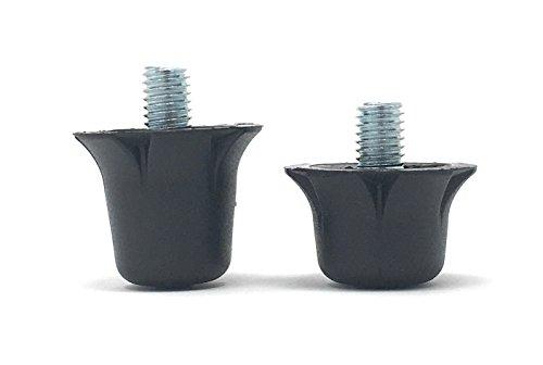 55 Sport Ersatzstollen für Fußballschuhe, Black Nylon, 12×13 mm + 4×16 mm