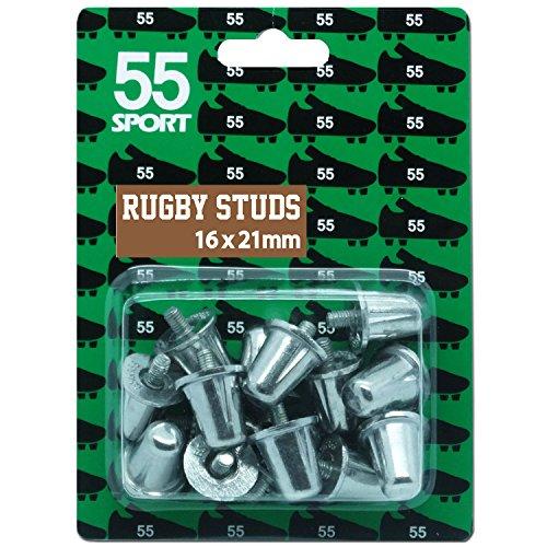 55 Sport Aluminium Ersatz Rugby Schuh Stollen, 16 x 21 mm